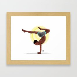 Charging Scorpion Pose Framed Art Print