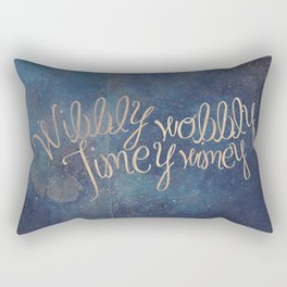 Wibbly wobbly (Doctor Who quote) Rectangular Pillow