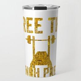 Free The Bench Press Gold Travel Mug