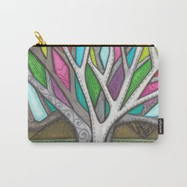 Stitched Tree of Glass Carry-All Pouch