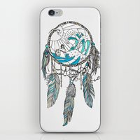 dream catcher iPhone & iPod Skins featuring Dream Catcher by Huebucket