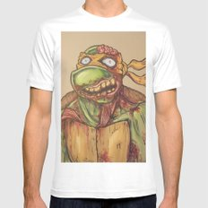 zombie ninja turtle Mens Fitted Tee MEDIUM White