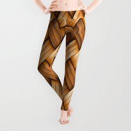 Golden Basket Weave Leggings