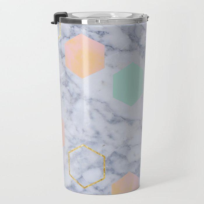 Marbled Travel Mug