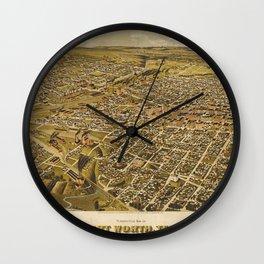 Fort Worth 1891 Wall Clock