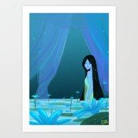 Flower Princess Art Print