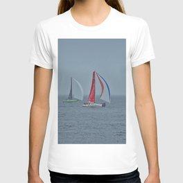 part 3 of 4 of Sailing Battle 42-56  - Transat Quebec St-Malo T-shirt