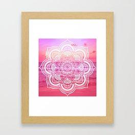 Water Mandala Hot Pink Fuchsia Framed Art Print