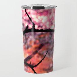 Living Coral Peach Pink Nature Abstract Travel Mug