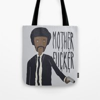 pulp fiction Tote Bags featuring Pulp Fiction by Molnár Roland