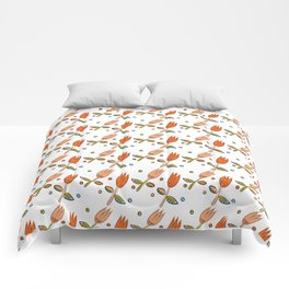 Pattern in Nordic Floral Style #11 Comforters
