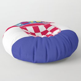 Croatia flag emblem Floor Pillow