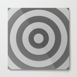 Target (Gray & Grey Pattern) Metal Print