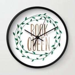 Book Queen Wall Clock