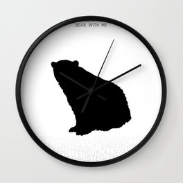 Berlin - Bear with me Wall Clock