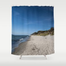 Random Beach Sea Wave And Waves Shower Curtains