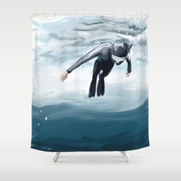 Breathe up Shower Curtain