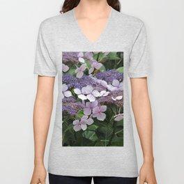 Hydrangea Violet Hues Unisex V-Neck