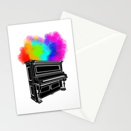 PIANO RAINBOW Stationery Cards