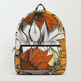 Beautiful pattern from hand drawn sunflowers Backpack