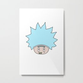 Shroomy Rick Metal Print