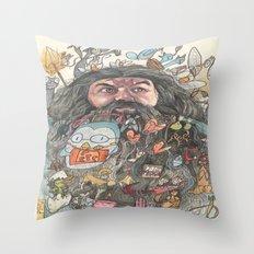 Hagrid's Beard Throw Pillow