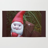 gnome Area & Throw Rugs featuring Chubby Gnome by Amber Dawn Hilton
