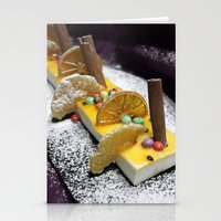 dessert Stationery Cards featuring Dessert by Ornaart