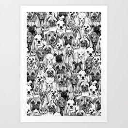 just dogs Art Print