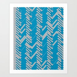 3d Chevron Art Print