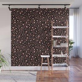 Leopard Print 2.0 - Brown & Blush Wall Mural