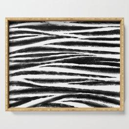 Zebra weave Serving Tray