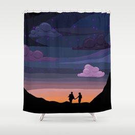 Klance sunset Shower Curtain