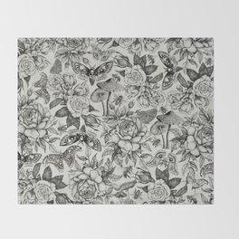 Botanical Pattern II Throw Blanket