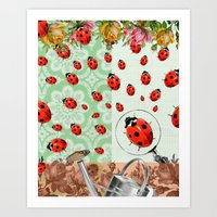 "bugs Art Prints featuring ""bugs"" by Ginger Pigg Art & Design"