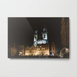 Prague, Praha at night. || Check Republic. || Night Shots. || Cityscape. Metal Print