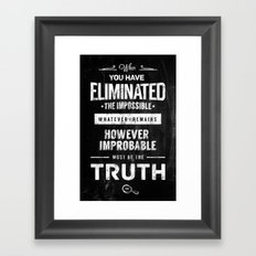 Detective Quotes Framed Art Print