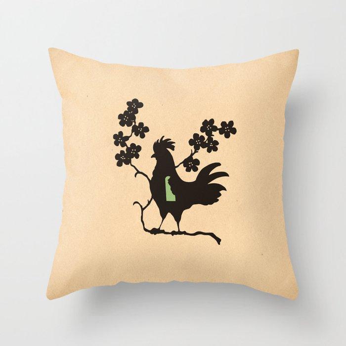 Delaware - State Papercut Print Throw Pillow
