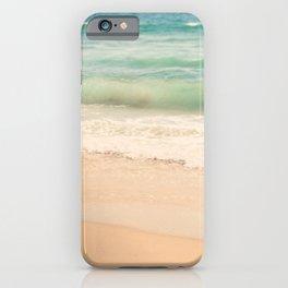 beach. Sea Glass ocean wave photograph. iPhone Case