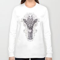 giraffe Long Sleeve T-shirts featuring Giraffe by BIOWORKZ