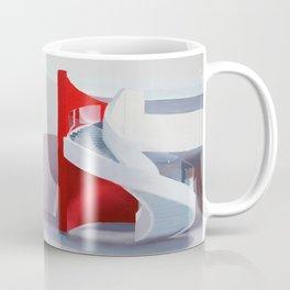 spiral on red Coffee Mug