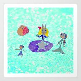 Alice | Up to the light sky Art Print