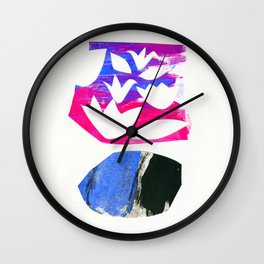paper collage Wall Clock