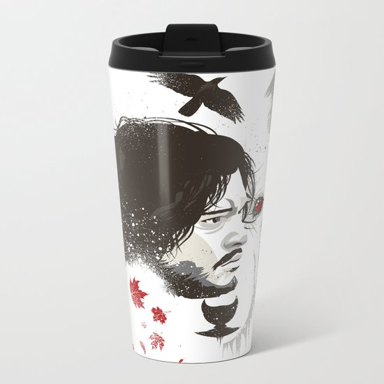 Snow Metal Travel Mug