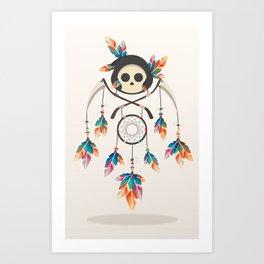 Angel de la Muerte Art Print