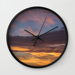 Sky on Fire. Wall Clock