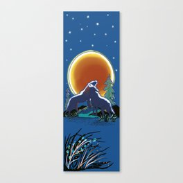 Blood moon over Wolf Mountain Canvas Print