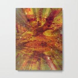 Reflective Oak. Metal Print