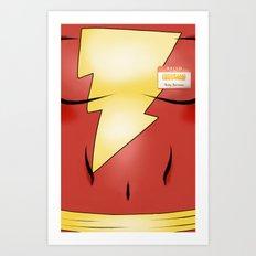 Hello my Name is Shazam! Art Print