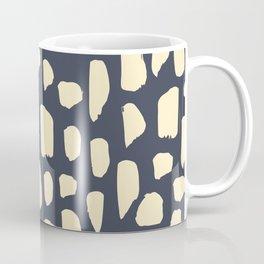 spot doodle_cream on blue Coffee Mug